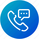 call, device, message, phone, speaker, talk icon