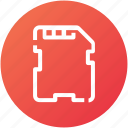 card, hardware, memory, sd card icon