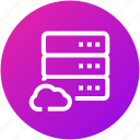 cloud, data, database, device, server icon