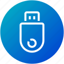 device, drive, flash, storage, usb icon