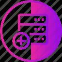 add, data, database, device, server