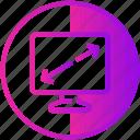 device, diagonal, display, monitor, screen, television icon