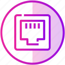 connection, electric, ethernet, internet, port icon