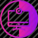 camera, device, display, monitor, screen, television icon