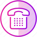 call, device, phone, retro, stationary, telephone