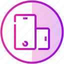 device, mobile, phone, rotate, smartphone icon