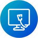 device, display, internet, monitor, screen, television icon