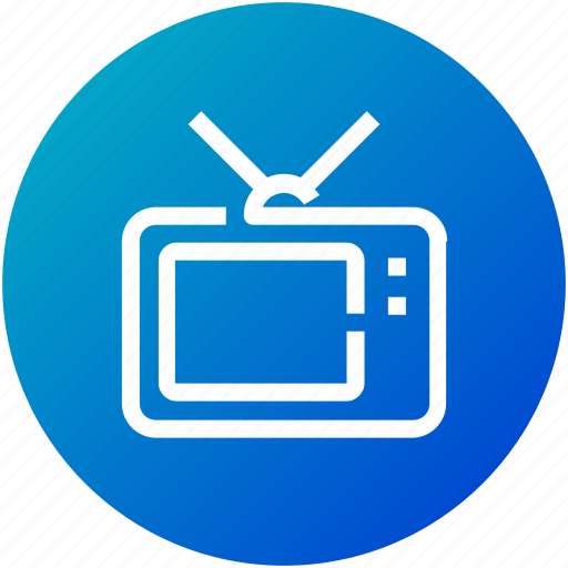 broadcast, device, entertainment, television, tv, watch icon