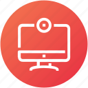 camera, device, display, monitor, screen, television icon