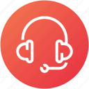 device, headphones, headset, mic, support icon