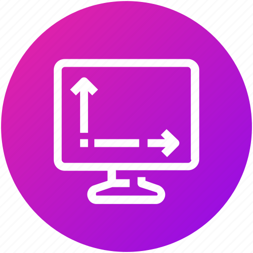 device, display, monitor, screen, size, television icon