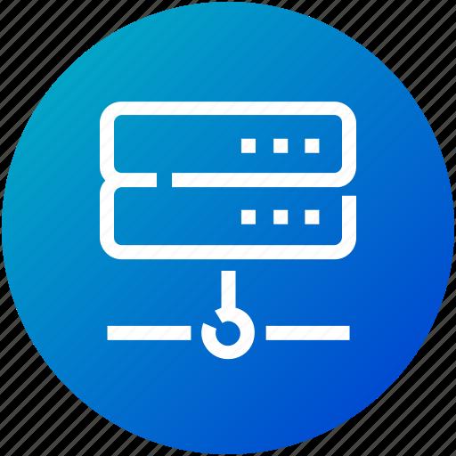 data, database, device, network, server icon