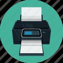 printer, print, paper