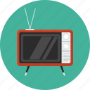 tv, television, retro