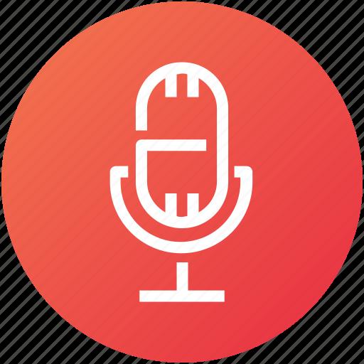 audio, broadcast, device, mic, microphone, record icon