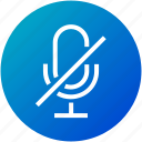 audio, device, mic, microphone, mute, record icon