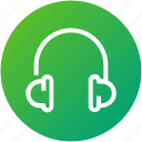 audio, device, headphones, headset, music icon