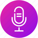 audio, device, mic, microphone, record icon