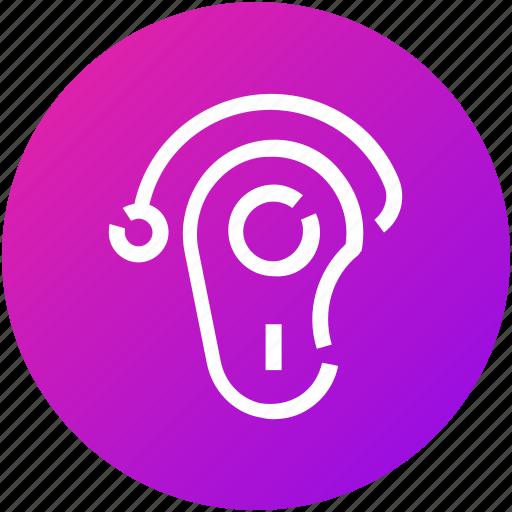 bluetooth, device, earphone, handsfree, wireless icon