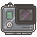 cam, case, go, pro, video, waterproof icon