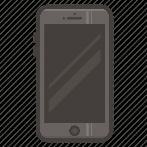 dark, iphone, mobile, phone, smartphone icon