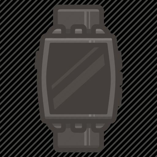 pebbble, smartwatch, steel, watch icon