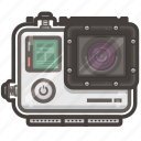 cam, case, go, hero, pro, video, waterproof icon