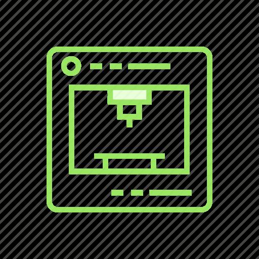 3dprinter, device, printer, printing icon