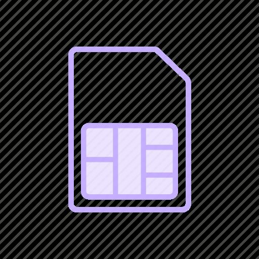 device, simcard, simicon icon
