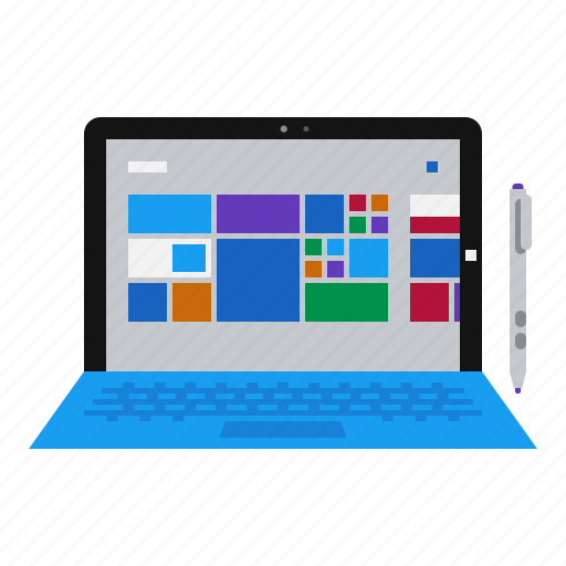 computer, laptop, mobile, notebook, pc, surface, tablet icon