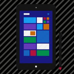 device, mobile, pen, stylus, tablet, windows, windows rt icon