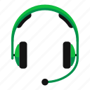 audio, call, headphone, headset, listen, music, support icon