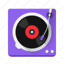 audio, device, listen, music, play, player, vinyl icon