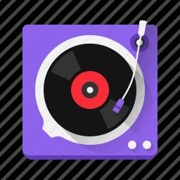 audio, device, listen, music, play, player, vinyl icon