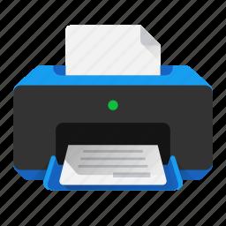 copy, device, doc, document, paper, print, printer icon