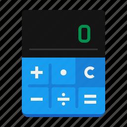 account, business, calc, calculator, math, school, study icon