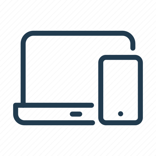 computer, device, electronic, laptop, mobile, phone, smartphone icon