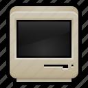 80s, black and white, computer, desktop, mac, macintosh, old icon