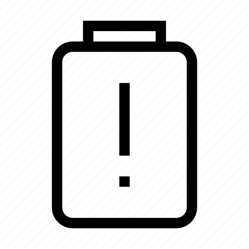 alert, battery, mobile, phone, warning icon