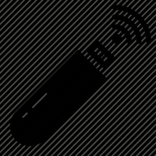 flashdrive, usb, wifi icon