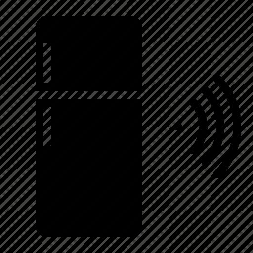 connectivity, food, refrigerator, wifi icon