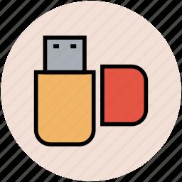 flash drive, memory stick, pendrive, usb, usb stick icon