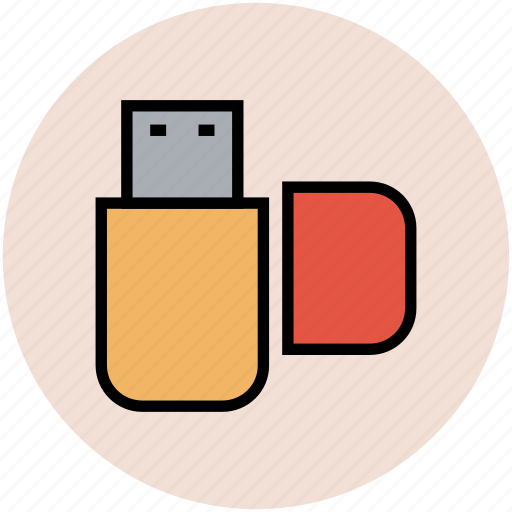 flash drive, memory stick, pendrive, usb, usb stick icon