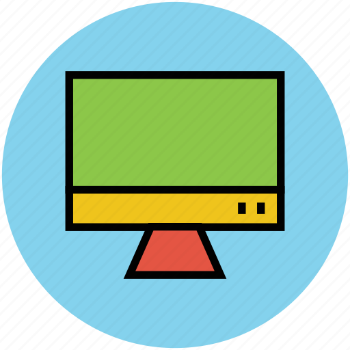 computer display, lcd, led tv, monitor, output device icon