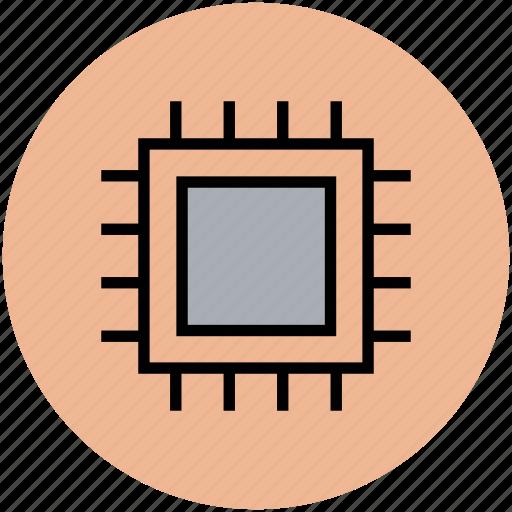 computer processor, cpu processor, microchip, microprocessor, processor icon
