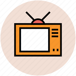 old tv, retro tv, television, tv, vintage tv icon