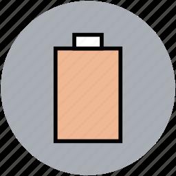 battery, battery level, battery status, empty battery icon