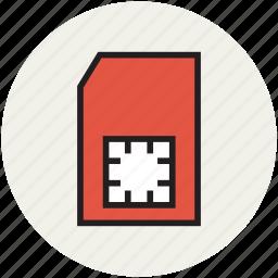 chip, mobile memory, mobile sim, sim, sim card icon