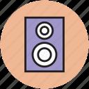 amplifier speaker, loudspeakers, music speakers, speakers, woofers icon