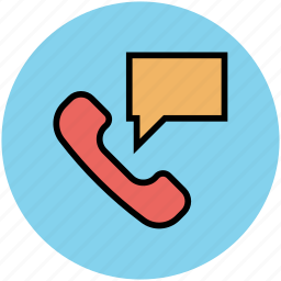 phone chat, phone communication, speech bubble, telephone receiver icon
